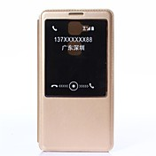 For Huawei Case with Stand / with Windows / Auto Sleep/Wake / Flip Case Full Body Case Solid Color Hard PU Leather Huawei Huawei Mate 7