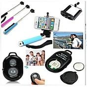 아이폰과 다른 휴대폰에 대한 원격 제어와 3에서 1 블루투스 확장 휴대용 셀프 타이머 스틱 모노 포드 홀더
