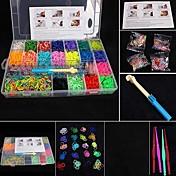 establece telar baoguang®fashion (4200pcs bandas de goma, 4 clips de paquetes, 1 telares, 4 ganchos + 1Box)