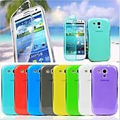 Teléfono Móvil Samsung - Carcasas de Cuerpo Completo - Color Sólido - para Samsung S3 Mini I8190N (Negro/Blanco/Rojo/Verde/Amarillo/Púrpura/Rosa/Azul