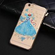 Carcasa Cubierta de Joyas/Cubierta Posterior - Diseño Especial// Decorado caja del Rhinestone Diamond - para iPhone 6 Plus (Azul , Policarbonato)