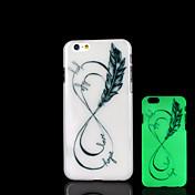용 아이폰6케이스 / 아이폰6플러스 케이스 야광 케이스 뒷면 커버 케이스 깃털 하드 PC iPhone 6s Plus/6 Plus / iPhone 6s/6