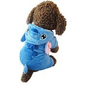 고양이 / 개 코스츔 / 후드 / 파자마 블루 강아지 의류 겨울 / 모든계절/가을 만화 귀여운 / 코스프레