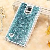 For Samsung Galaxy Case Flowing Liquid Case Back Cover Case Glitter Shine PC Samsung S5