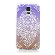patrón de gradación de color púrpura protectora caso del tpu suave magia SPIDER® con protector de pantalla para Samsung Galaxy i9600 s5