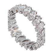 Mujer Anillos de Diseño Amor Joyería de Lujo Nupcial joyería de disfraz Zirconio Gema Diamante Sintético Joyas Joyas Para Boda Fiesta