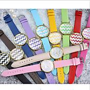 패션 시계 캐쥬얼 시계 석영 가죽 밴드 Randig 멀티컬러