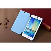 Para Funda Samsung Galaxy Carcasa Funda Flip Cuerpo Entero Funda Color sólido Cuero Sintético para Samsung A3