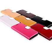 용 삼성 갤럭시 케이스 카드 홀더 / 지갑 / 스탠드 / 플립 케이스 풀 바디 케이스 단색 천연 가죽 Samsung S3