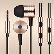 삼성 및 기타에서 Andriod 전화 (모듬 된 색상)에 대한 섬유 와이어 3.5mm의 인 이어 이어폰 헤드셋을 당겨