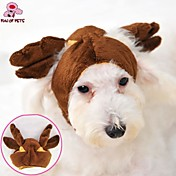 Cat / Dog Costume / Outfits / Bandanas & Hats Brown Dog Clothes Winter Wedding / Cosplay / Halloween