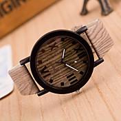 Mujer Reloj de Moda Reloj Madera Cuarzo Piel Banda Cosecha Marrón Caqui # 2 # 3 # 4 # 5 # 6