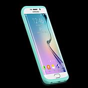 용 삼성 갤럭시 케이스 투명 케이스 풀 바디 케이스 단색 실리콘 Samsung S6 edge