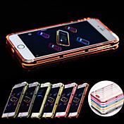 용 아이폰6케이스 / 아이폰6플러스 케이스 도금 / LED플레쉬 조명 케이스 뒷면 커버 케이스 단색 소프트 TPU iPhone 6s Plus/6 Plus / iPhone 6s/6