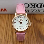 여성용 패션 시계 디지털 가죽 밴드 블랙 화이트 레드 브라운 핑크 퍼플