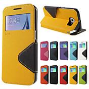 Para Samsung Galaxy Note7 Carcasa Funda Soporte de Coche con Soporte Flip Cuerpo Entero Funda Color sólido Dura Cuero Sintético para