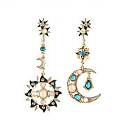 Earring Drop Earrings Jewelry Women Gemstone & Crystal / Alloy / Cubic Zirconia 2pcs Silver