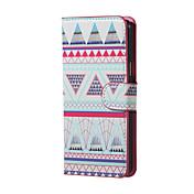 Para Funda Samsung Galaxy Carcasa Funda con Soporte Flip Cuerpo Entero Funda Diseño Geométrico Cuero Sintético para Samsung J5 (2016)