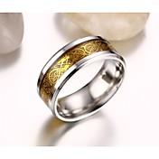 남성용 문자 반지 의상 보석 애것(마노) 티타늄 스틸 도금 골드 보석류 제품 결혼식 파티 일상 캐쥬얼 스포츠 크리스마스 선물