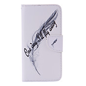 Para Samsung Galaxy S7 Edge Soporte de Coche / Cartera / con Soporte / Flip Funda Cuerpo Entero Funda Pluma Cuero Sintético SamsungS7