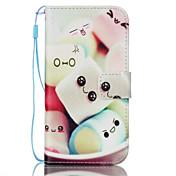용 Samsung Galaxy S7 Edge 지갑 / 카드 홀더 / 스탠드 / 플립 케이스 풀 바디 케이스 카툰 인조 가죽 Samsung S7 edge / S7
