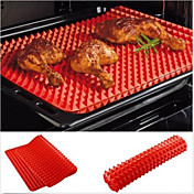 Red Pyramid Pan Nonstick Silicone Baking Mat Mould Cooking Mat Oven Baking Tray