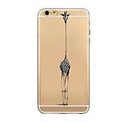 iphone6에 대한 동물과 조류 패턴 TPU 투명한 소프트 쉘 전화 케이스 뒷면 커버 케이스 플러스 / 6S 플러스