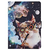 용 삼성 갤럭시 케이스 카드 홀더 / 지갑 / 스탠드 / 플립 / 패턴 케이스 풀 바디 케이스 고양이 인조 가죽 Samsung Tab 4 8.0 / Tab 4 7.0 / Tab E 9.6 / Tab A 9.7 / Tab A 8.0
