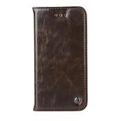용 아이폰6케이스 / 아이폰6플러스 케이스 카드 홀더 / 지갑 / 스탠드 / 플립 케이스 풀 바디 케이스 단색 하드 인조 가죽 iPhone 6s Plus/6 Plus / iPhone 6s/6