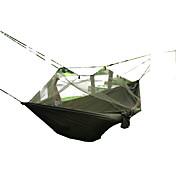 SWIFT Outdoor 해먹 수분 방지 통풍 잘되는 요새 빠른 드라이 자외선 방지 안티 곤충 통기성 울트라 라이트 (UL) 수렵 하이킹 피싱 바닷가 캠핑 여행 야외 실내 가을 봄 여름 겨울 면 나일론