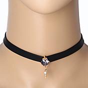 목걸이 초커 목걸이 문신 초커 보석류 일상 캐쥬얼 타투 스타일 패션 합금 1PC 선물 블랙