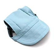 Gatos / Perros Bandanas y Sombreros Azul Claro Ropa para Perro Verano / Primavera/Otoño Un Color Casual/Diario