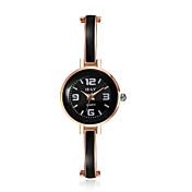 jewelora Mujer Reloj de Vestir Reloj de Moda Cuarzo Reloj Casual Resistente a los Golpes Aleación Banda Cosecha Negro Oro Rosa