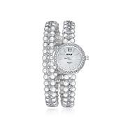 jewelora Mujer Reloj de Vestir Reloj de Moda Reloj Pulsera Cuarzo Reloj Casual Resistente a los Golpes Aleación BandaCosecha Perlas