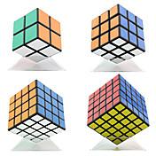 Shengshou® 부드러운 속도 큐브 2*2*2 / 3*3*3 / 4*4*4 / 5*5*5 속도 / 전문가 수준 스트레스 구조자 / 매직 큐브 / 퍼즐 장난감 블랙 페이드 부드러운 스티커 조정 봄 플라스틱