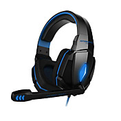 ruido estéreo del juego de auriculares auriculares para juegos G4000 cancelación de controlador de alta fidelidad micrófono llevó la luz para la PC