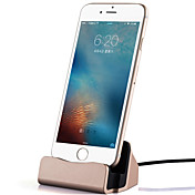 1 USB 포트 US플러그 도크 충전기 / 휴대용 충전기 케이블과 For iPhone Metal Look Cool(5V , 2.1A)