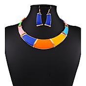 Schmuckset Halskette / Ohrringe Sexy Modisch Europäisch Schwarz/Weiß Regenbogen Halsketten Ohrringe Für Hochzeit Party Alltag Normal 1 Set