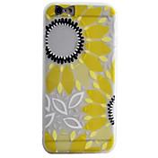 용 아이폰6케이스 / 아이폰6플러스 케이스 / 아이폰5케이스 반투명 / 패턴 케이스 뒷면 커버 케이스 꽃장식 소프트 TPU Apple iPhone 6s Plus/6 Plus / iPhone 6s/6 / iPhone SE/5s/5