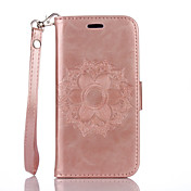 PU Leather Material Datura Flowers Pattern Butterfly Phone Case for iPhone 7Plus 7 6Plus 6S 6 SE 5s 5