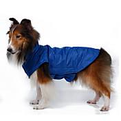 개 코트 조끼 강아지 의류 따뜻함 유지 방풍 솔리드 오렌지 옐로우 로즈 레드 블루