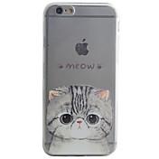 용 패턴 케이스 뒷면 커버 케이스 고양이 소프트 TPU Apple 아이폰 7 플러스 / 아이폰 (7) / iPhone 6s Plus/6 Plus / iPhone 6s/6 / iPhone SE/5s/5