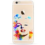 용 아이폰7케이스 / 아이폰6케이스 / 아이폰5케이스 울트라 씬 / 패턴 케이스 뒷면 커버 케이스 섹시 레이디 소프트 TPU Apple아이폰 7 플러스 / 아이폰 (7) / iPhone 6s Plus/6 Plus / iPhone 6s/6 /