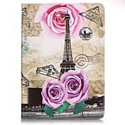 Para Cartera / Soporte de Coche / con Soporte / Diseños Funda Cuerpo Entero Funda Torre Eiffel Dura Cuero Sintético SamsungTab E 9.6 /