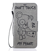 삼성 갤럭시 j7 j5 위니 패턴 pu 가죽 소재 양각 휴대 전화 집어 넣어