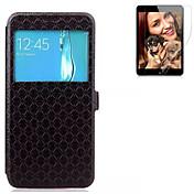 용 지갑 / 카드 홀더 / 스탠드 / 윈도우 / 플립 케이스 풀 바디 케이스 단색 하드 인조 가죽 Samsung S7 edge / S7 / S6 edge plus / S6 edge / S6