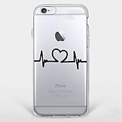 용 울트라 씬 / 투명 / 패턴 케이스 뒷면 커버 케이스 심장 소프트 TPU Apple 아이폰 7 플러스 / 아이폰 (7) / iPhone 6s Plus/6 Plus / iPhone 6s/6 / iPhone SE/5s/5