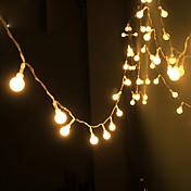 야외 크리스마스 장식 조명을위한 태양 광 발전 문자열 빛 방수 led 스트립 10m 100led 구리 와이어 램프 온난 한 백색