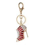 edición de han de tacones lindo llave del coche llavero colgante de diamantes de la moda bolsa de la cadena regalo creativo