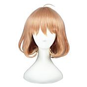 Pelucas de Cosplay Mahou Shoujo Madoka Magica Akari Rosa Corto Animé Pelucas de Cosplay 35 CM Fibra resistente al calor Unisex
